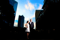 Chu & Billy Downtown Charlotte Engagement